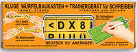 Умные кубики + тренажёр для письма на немецком языке