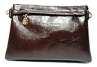 Сумка-клатч женская коричневая со змейкой Pretty woman (IPB-733594)