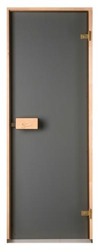 Дверь для сауны стеклянная Classic (матовая бронза)