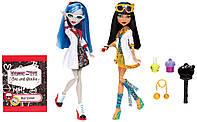 Кукла Monster High Mad Science Cleo De Nile & Ghoulia Yelps набор Лаборатория Гулия и Клео (Matell)