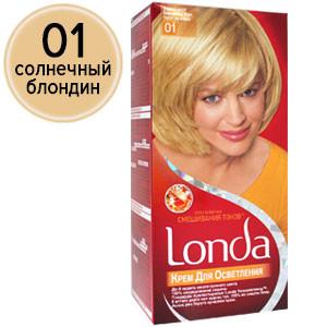 Londa Краска для волос №01 Солнечный блондин (крем для осветления)