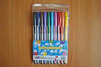 Ручки шариковые разноцветные Colour 10 штук
