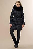 Куртка с натуральным мехом песца на планочке