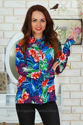 Рубашка женская цветы