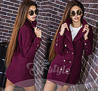 Двубортное женское кашемировое пальто