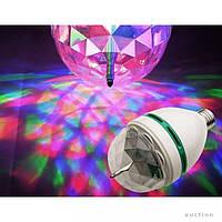 Светодиодная Диско лампа LED вращающаяся  с переходником