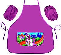 Фартук школьный для девочки Сказочный пони (Эконом) 77984-3