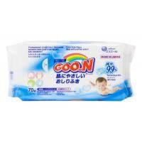 GOO.N Влажные салфетки для чувствительной кожи 70 шт увеличенные в новой цветной пачк