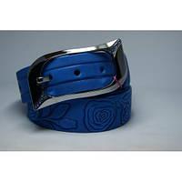 Ремень кожаный женский (голубой)  Andi 1049_029
