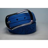 Ремень кожаный женский (голубой)  Andi 1049_030