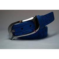 Ремень кожаный женский (голубой)  Andi 1049_051