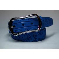 Ремень кожаный женский (голубой)  Andi 1049_052