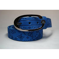 Ремень кожаный женский (голубой)  Andi 1049_053
