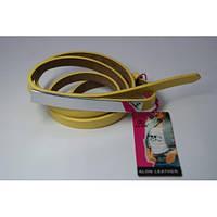 Ремень женский кожаный Аlon (желтый)