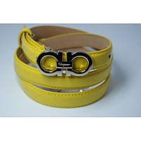 Ремень женский кожаный Salvatore (желтый) Andi 153179_006