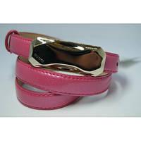 Ремень женский кожаный Gucci (розовый)