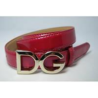 Ремень женский кожаный D&G (розовый)