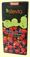 Испанский молочный шоколад Torras  со вкусом лесных ягод без сахара со стевией   125 грамм