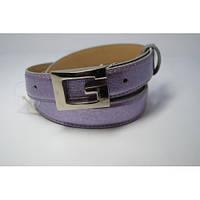 Ремень женский кожаный Gucci (фиолетовый)