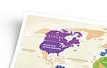 Скретч карта світу Travel Map ™ Gold World (українською мовою), фото 3