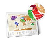 Скретч карта світу Travel Map ™ Gold World (українською мовою), фото 2