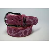 Ремень женский кожаный Аlon (розовый)