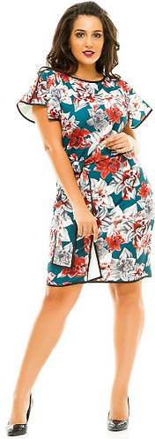 Платье женское полубатал цветы