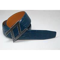 Ремень кожаный Zilli (бирюзовый) 155777_035