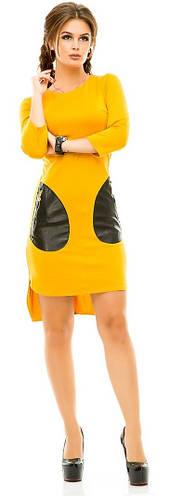Платье женское  карманы экокожа