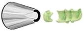 Наконечник кондит.: для рисования ландышей, хризантем, бордюров и зигзагов ATECO 4030278/80