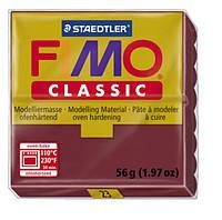 Полимерная глина Fimo Classic Бордовая 56 гр