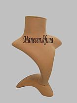 Бюст для ювелирных изделий флокированный на подставке, фото 2