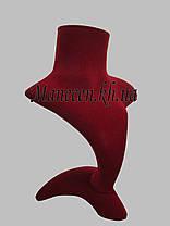 Бюст для ювелирных изделий флокированный на подставке, фото 3
