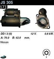 Стартер Nissan Micra Sanny Cherry 1.0 1.3 1.4 1.5i 82-90  /0, 8кВт z8/ Не редукторный JS305, фото 1