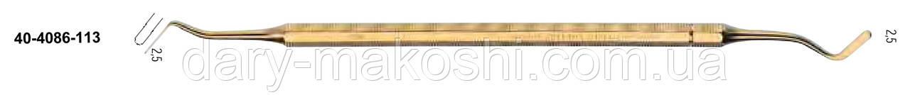 Шпатель двухсторонний жесткий 2,5 мм NaviStom