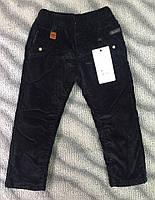 Вельветовые штаны на флисе для мальчиков 98-122см