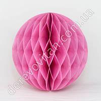 Бумажный шар-соты, розовый, 15 см