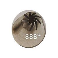 Наконечник кондитерский: звездочка с завитком, h=47 мм, диам. 22 мм, 10 лепестков ATECO 4030089