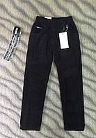 Вельветовые штаны на флисе 116см