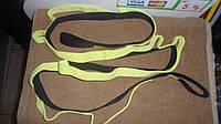 Лента для растяжки 8 петель Stretch Strap черно-желтая Assistance Exerciser 2,5х180см