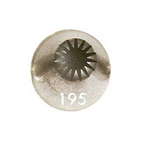 Наконечник кондитерский: цветок, h=40 мм (средний наконечник), диам.13мм, 14 лепестков ATECО 4030047/195