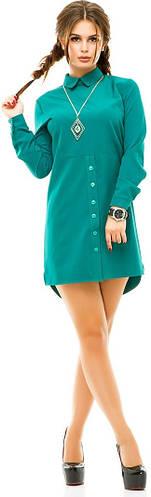 Платье-рубашка женское пуговицы