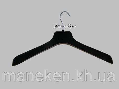 Вешалка ВОП широкое плечо 47/6 бархатный флокированный, фото 2