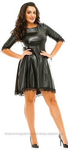 Платье женское полубатал екокожа кружево