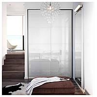 IKEA ФЭРВИК Пара раздвижных дверей, белое стекло : S39930445, S399.304.45