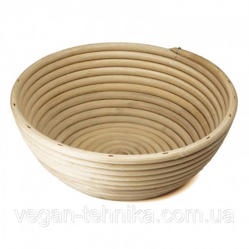 Корзинка для расстойки теста из ротанга KoMo круглая форма