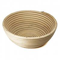 Корзинка для расстойки теста из ротанга KoMo круглая форма, фото 1