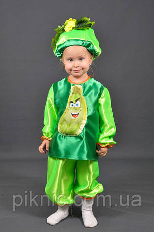 Костюм Кабачок для детей 3,4,5,6,7 лет. Детский костюм овощи Кабак Кабачек для мальчиков и девочек, фото 2