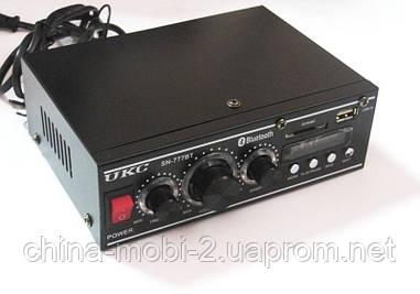 Усилитель звука (ресивер) UKC SN-777BT c Bluetooth, MP3/SD/USB/AUX/FM 12v / 220v
