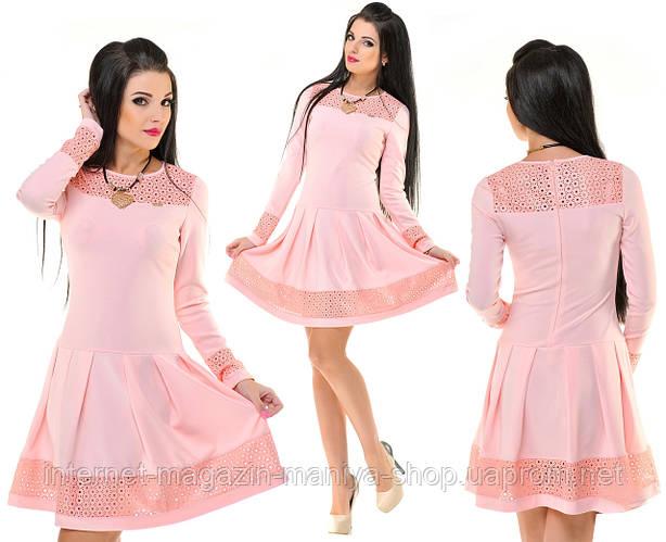 Платье женское перфорация